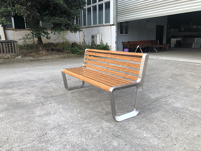 成都不锈钢靠背公园休闲椅